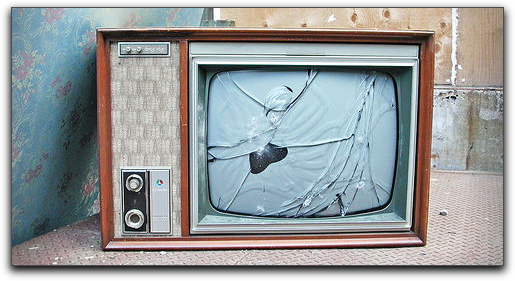 One more broken television