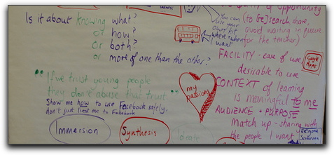 Our group's brainstorm of Glow from a student perspective