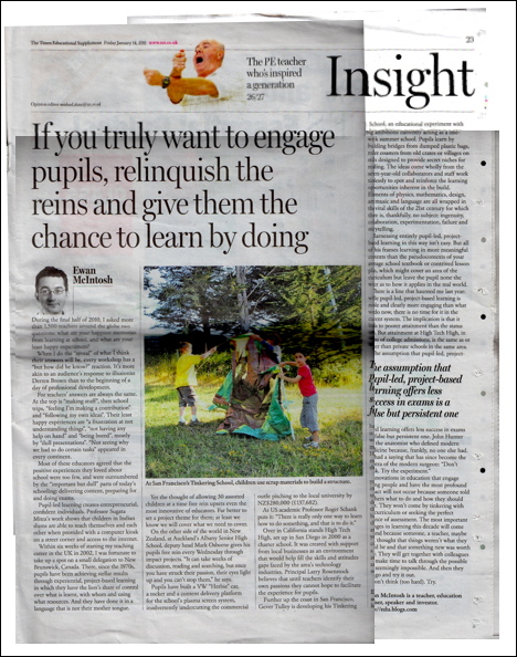 Ewan McIntosh In The TES