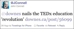 John Connell doesn't get TED